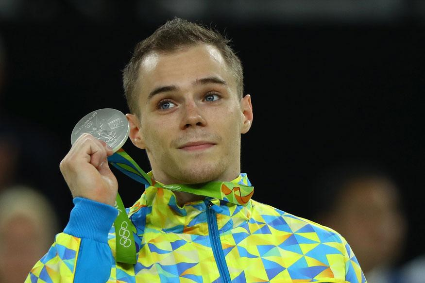 Verniaiev couldn't stick the landing and the cash, settles for silver.