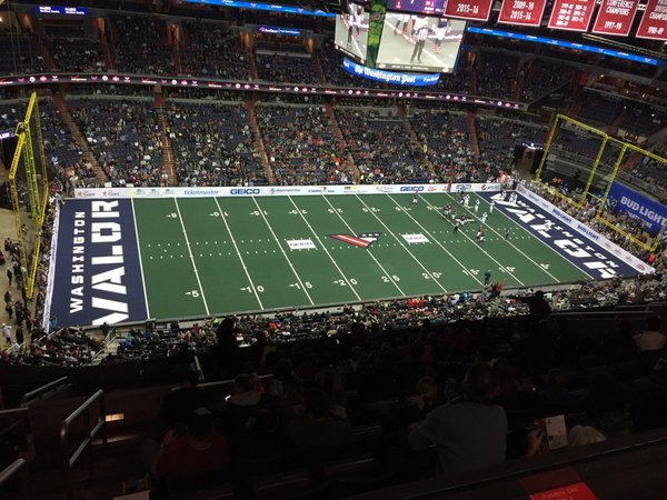 Arena Football Returns to DC as Valor Defeats Baltimore Brigade